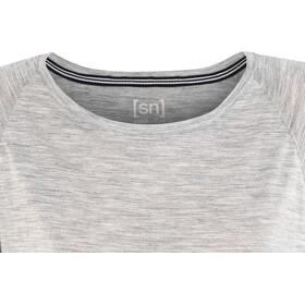 super.natural Motion Peyto Camiseta Mujer, ash melange